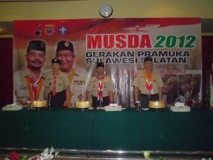 Wakil Kwarnas dan Ka Kwarda pada Pembukaan MUSDA 2012