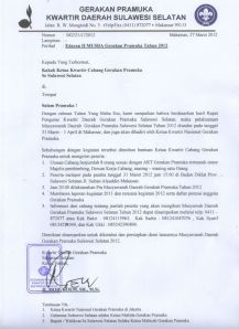 Surat Edaran MUSDA Kwarda 2012